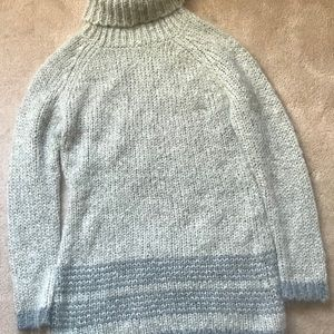 Sundance Gray Cowl Neck Mohair Blend Tunic Sweater